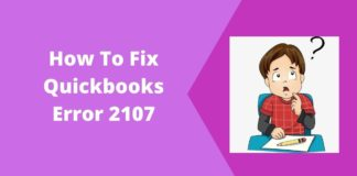 How To Fix Quickbooks Error 2107